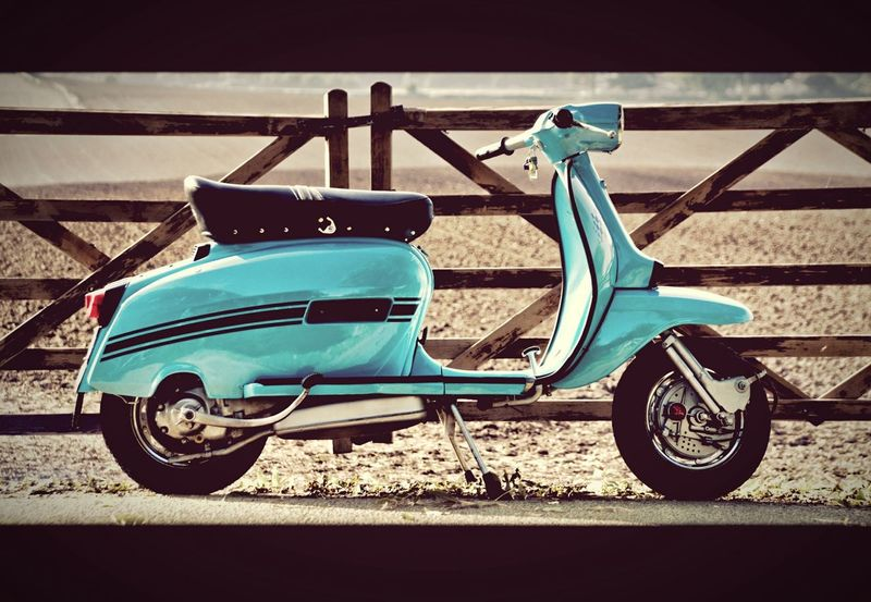 Lambretta LambrettaGP Scooter Italian Classic Vintage Blue 1960's Sixties Sixties Style Retro Style Retro Mod Old Scooter Scootering First Eyeem Photo