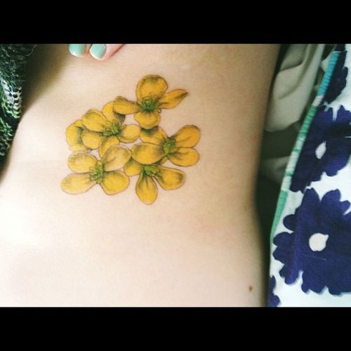 Never did post a pic of this... So here it is. Tattoo Ribtat MustardSeed Flowers