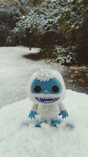 No People Outdoors Nature Snow ❄ Abominable Snowman Bumble Yeti Funko Day Outdoor Photography Firstsnowfall Soexcited Staytuned Still Life In Front Of Snowfall Vibrant Color Amazing Funkopopvinyl Figurine  Exclusive  Surface Level Colors Socute