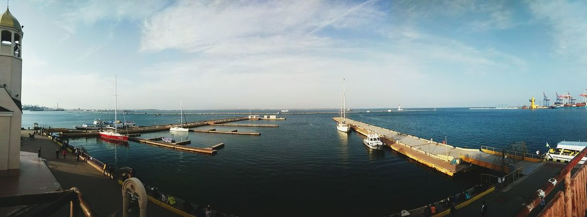 одесса порт Море Odessa Port Sea Panorama