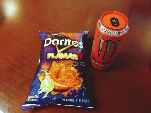 Monster Energy Doritos Snack Time! Food Porn