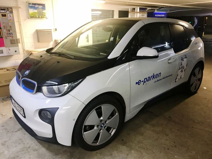 E-Car being charged Electro Mobility Electro E-car Car Transportation Mode Of Transport Land Vehicle No People Day Outdoors