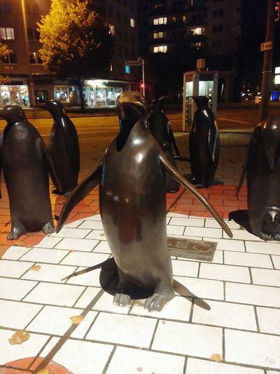 City Architecture City Life Outdoors Pinguine Sculpture In The City Sculptures Antartica Chemnitzcity Chemnitz Chemney