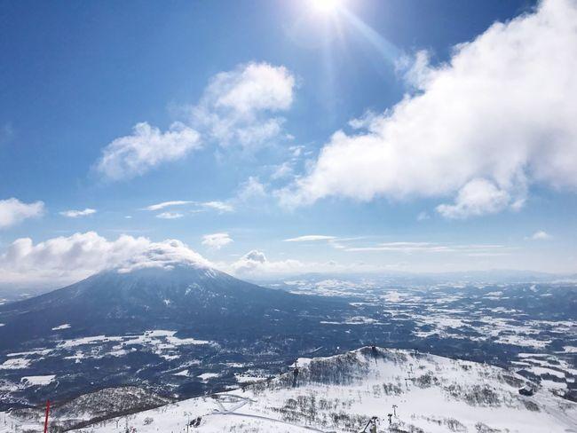 北海道 日本 ニセコ Japan Travel Snowboard Winter Sky Snow Scenics Sunlight Mountain Nature Tranquility Beauty In Nature Cold Temperature Outdoors Day Tranquil Scene Cloud - Sky Landscape No People