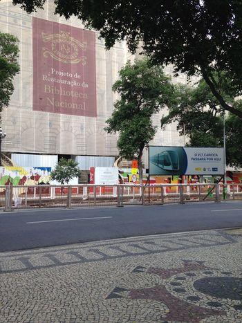 Rio De Janeiro em Obras • Avenida Rio Branco Cinelândia  Biblioteca Nacional Vlt Rio Brasil Brazil EyeEm Rio