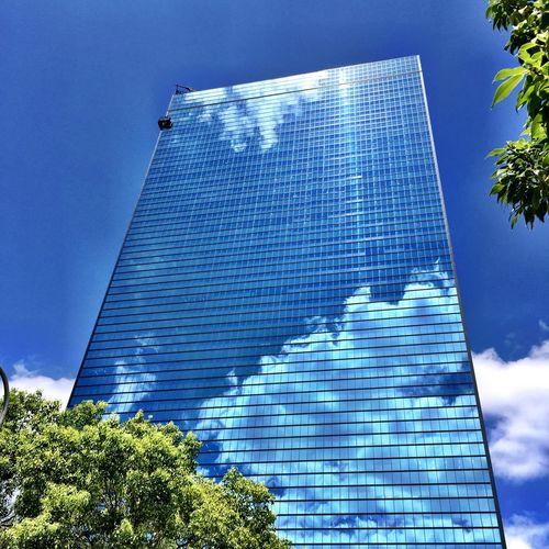 bule sky clear glass Taking Photos Walking Around