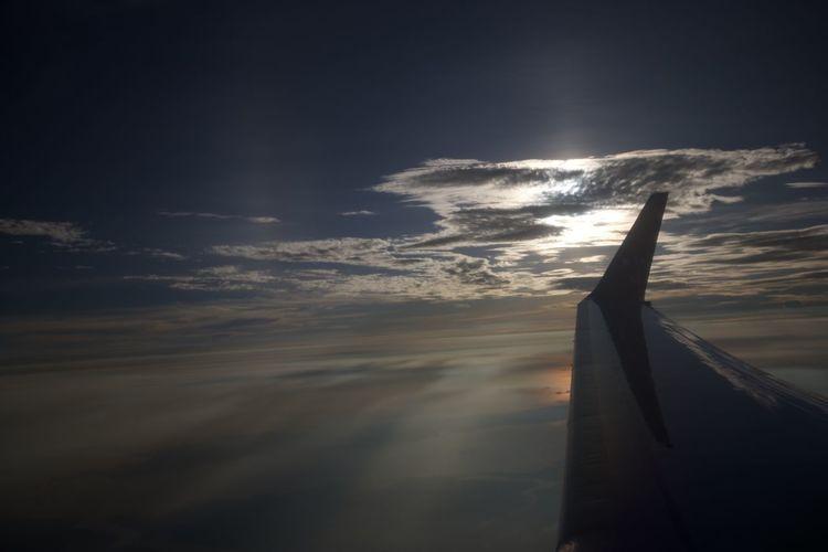 Airplane Cloud Cloud - Sky Sky Sun Sunset