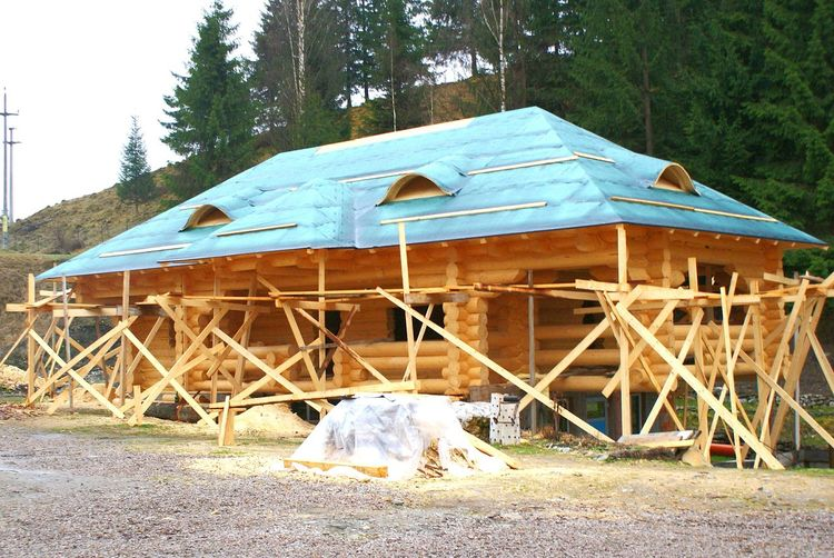 House Wood Wooden House Bucovina Romania Day Mountain House Manual Labor Logs Log House Construction Healthy This Is Where I Live... Home Ecology Ecological House