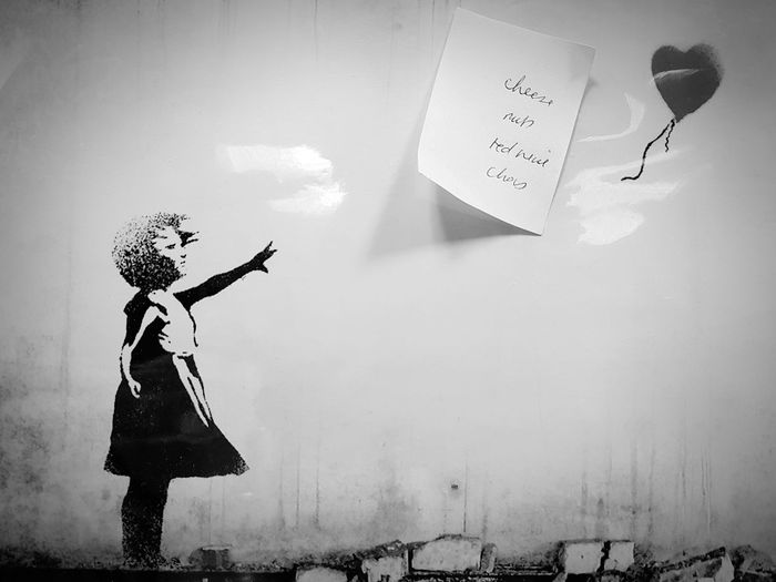 Girl And Balloon Banksy Print Artist Graffiti