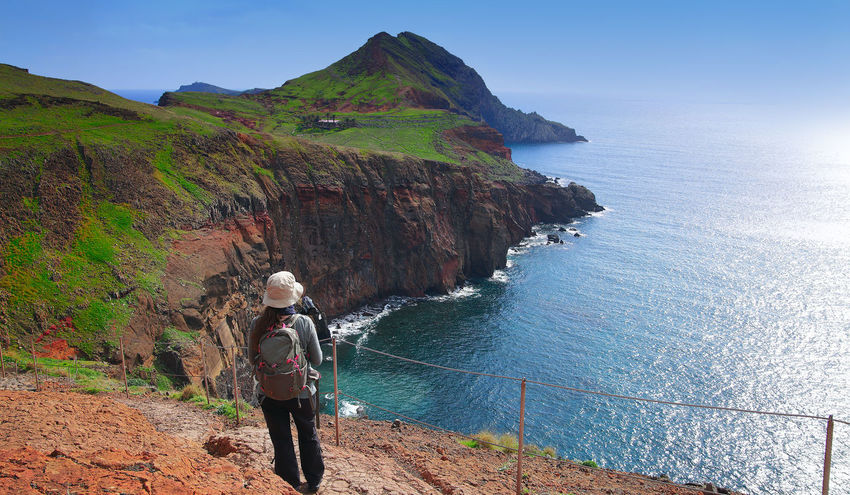 hiking on madeira islands Coastline Hiking Madeira Madeira Island Madeira Islands, Portugal Portugal Travel Travel Photography Adventure Beauty In Nature Cliff Coastal Feature Hikingadventures Leisure Activity Mountain Nature Outdoors Real People Rock - Object Sea South Coast Madeira Tourism Tranquility Travel Destinations Women