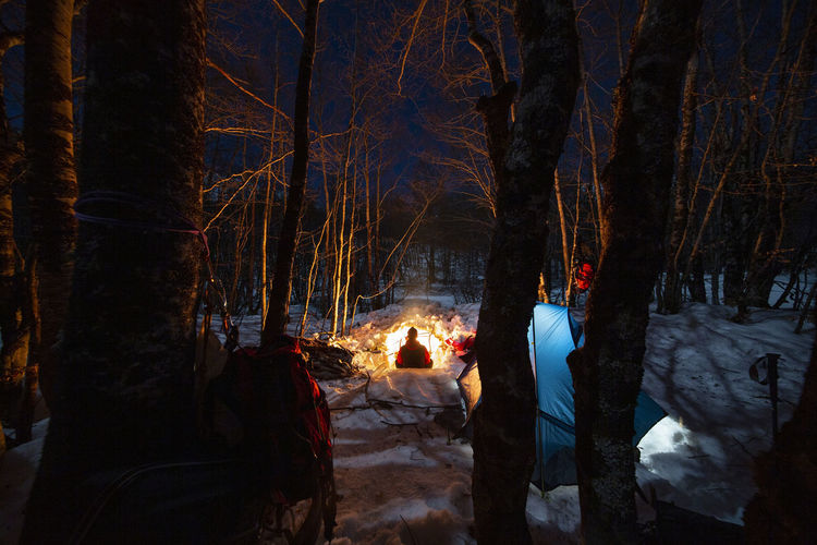 Cold Winter ❄⛄ Cold Winter Bushcraft Outdoors Hiking Hikingadventures Mountain Mountain Peak Camping Campinglife Beauty In Nature EyeEm Best Shots Nature Nature_collection Nature Photography Hiking Adventures Snow Snowing Fire Night Forest Photography Winter Forest Camping Life EyEm Selects