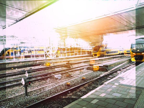 Finally arrived at Leiden Centraal Commute Train Station Lw Leiden