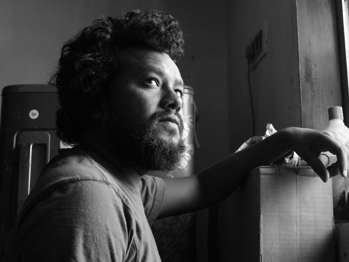 black and white EyeEm Eyeemindia Capture The Moment Eyeem India This Is My Skin Human Body Part EyeEm Selects Close-up Tangled Hair Thoughtful Asian  Hairy  Day Dreaming Tousled Hair Body Adornment Bachelor Thinking