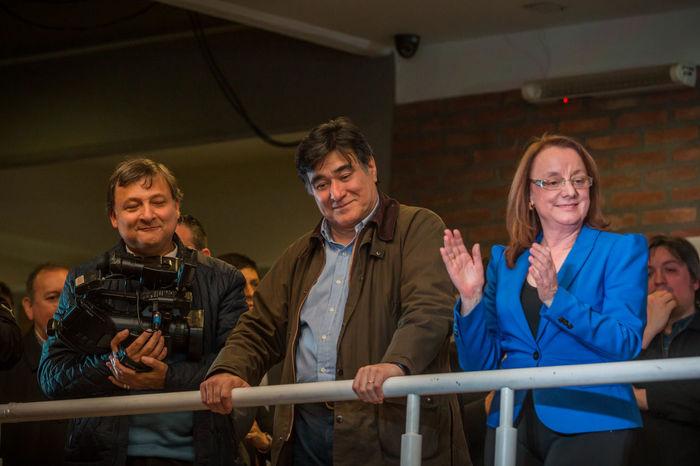 Alicia Kirchner, sister of the ex-president Nestor Carlos Kirchner, with Carlos Zannini Kirchner Politics UTN Argentina Journalism