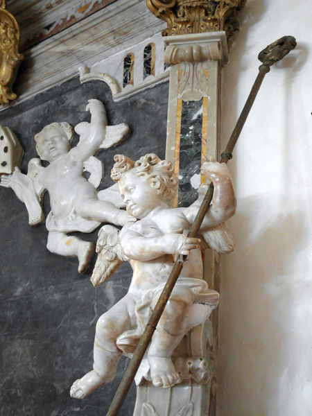Marble putto Architecture Art And Craft Built Structure Close-up Human Representation Indoors  Italy Larino Low Angle View Male Likeness Marble Molise Putto Putto Statue Religion Sculpture Spirituality Statue