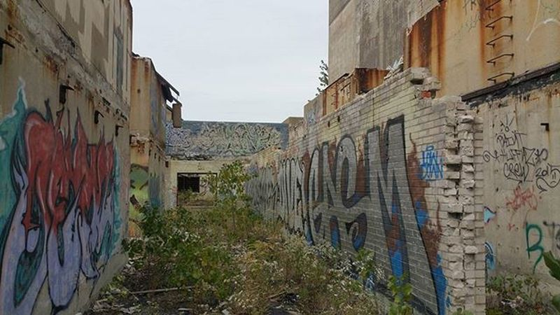 I've wandered into some strange labyrinth. Haven't run into David Bowie yet. Abandoned Urbanexploration Urbex Detroit Michigan Ruins Rust Roadtrip RustBeltRoadTrip2015 Rustbelt