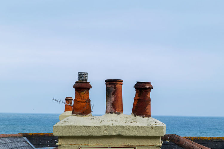 Chimney Water Sea Nautical Vessel Beach Lighthouse Sky Architecture Seascape Emitting Horizon Over Water