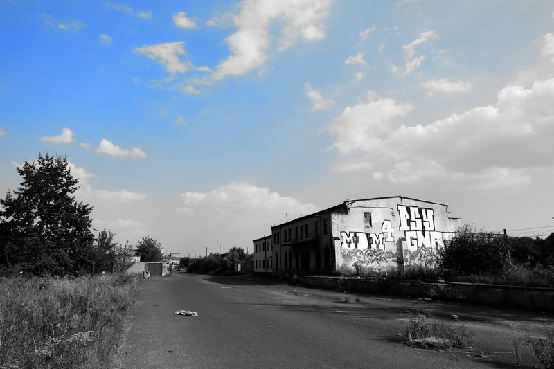 Architecture Blue Building Exterior Built Structure Cloud Cloud - Sky Countryside Day Diminishing Perspective Empty From My Point Of View FUJIFILM X-T10 Lawn Long No People Outdoors Road Sky Solitude Street Surface Level The Way Forward Tranquil Scene Wasiak