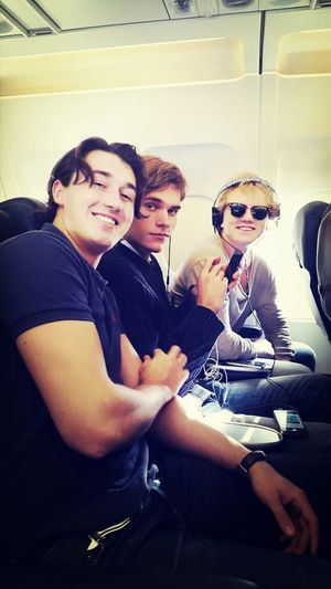 """Just separated from """"grabbarna grus"""" who happened to travel with the same flight to London & THE SEATS NEXT TO EACH OTHER!!! They're heading to Australia - I'm to the opposite.... SeeYouIn6MonthsDudes"""