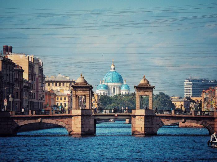 The Lomonosov Bridge Russia Saint Petersburg Bridge Tourism Politics And Government Sea Beach Sky Urban Skyline Downtown District