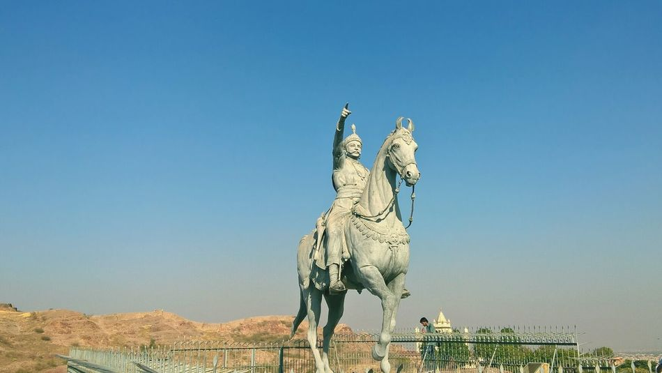 King on march Sculpture Mehrangarh Fort Rajasthandiaries Rajwada Royalsnapingartists Rajput Glory