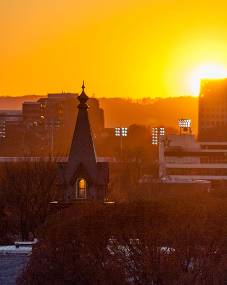 Chapel Higher Education Nashville November Vanderbilt Architecture Bell Tower Building Exterior Built Structure Cold Temperature Outdoors Place Of Worship Religion Sunset Tennessee