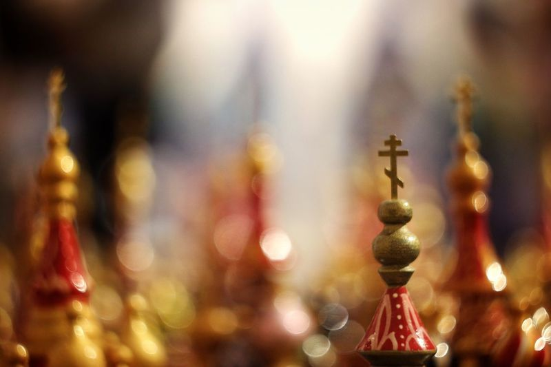 Russian souvenirs Close-up Souvenir Christianity Toys Culture Short Focus Bokeh Group Of Objects Church Churches Wooden Church  Colorful Bokeh Photography Saint Petersburg Wooden Souvenir Russian Culture Culture Of Russia Cross Focus On Foreground Souvenirs/Gift Shop Russia Cathedral Painted