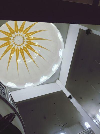 inside mosque Ceiling Lighting Equipment Man Made Clock Pattern Man Made Object Sunlight Shape Metal Architecture Water Design The Architect - 2018 EyeEm Awards
