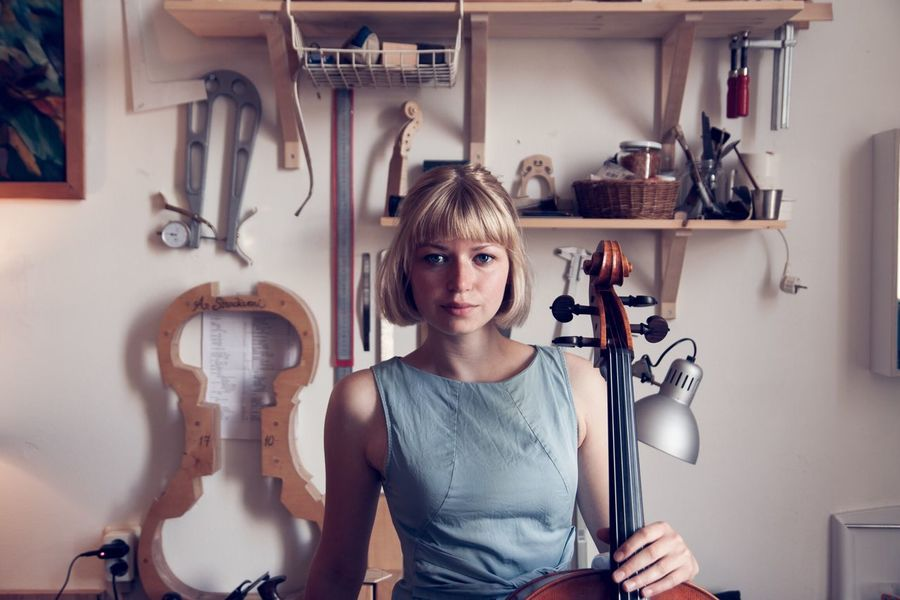 🎻 People And Places ViolinMaker Cellist Cello Portrait Music Instrument Luthier Photography Workplace Cellogirl Badass