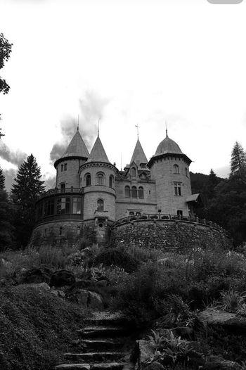 Castle Gressoney Monte Rosa Beautiful Blackandwhite