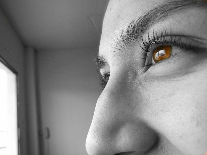 Tender fire... Eyes Fireeye Woman Tenderness She Monoart Smilee♡ Glance Up