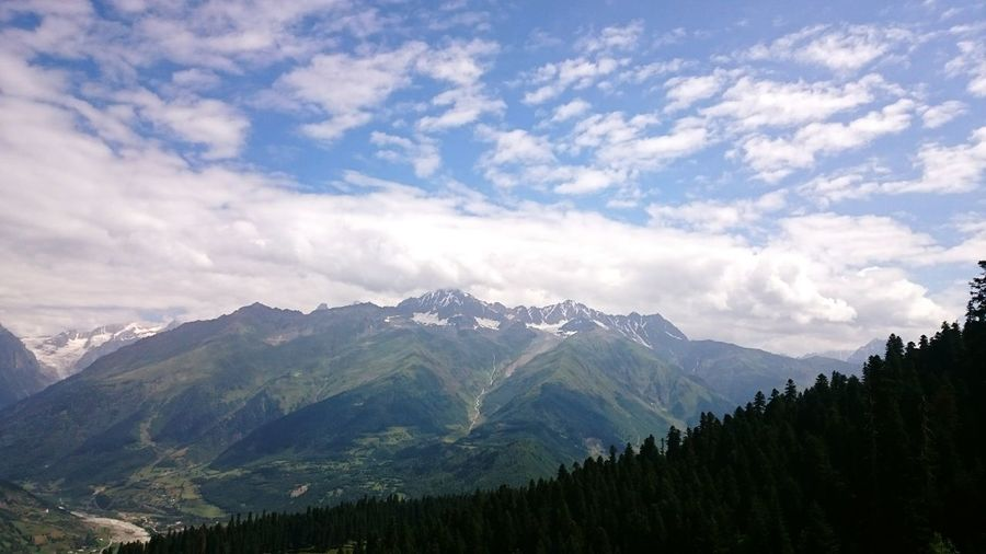 Mountain Landscape Sky Georgia Mestia