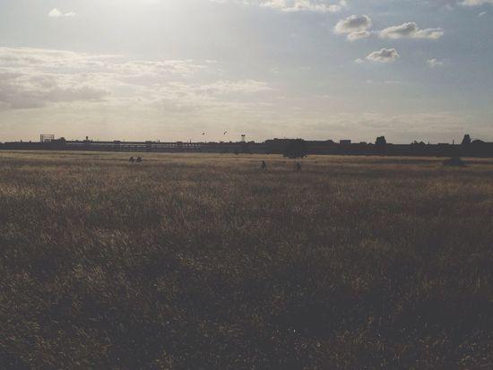 Tempelhof Berlin Sunset Hanging Out