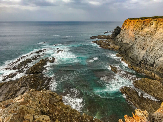 Cloud Landscape_Collection Nature Nature Photography Portugal Rock Tranquility Travel Travel Photography Traveling Beauty In Nature Cavaleiro Cliff Cloud - Sky Landscape Landscape_photography Nature_collection Ocean Photography Scenics Scenics - Nature Sea Sky Travel Destinations Water