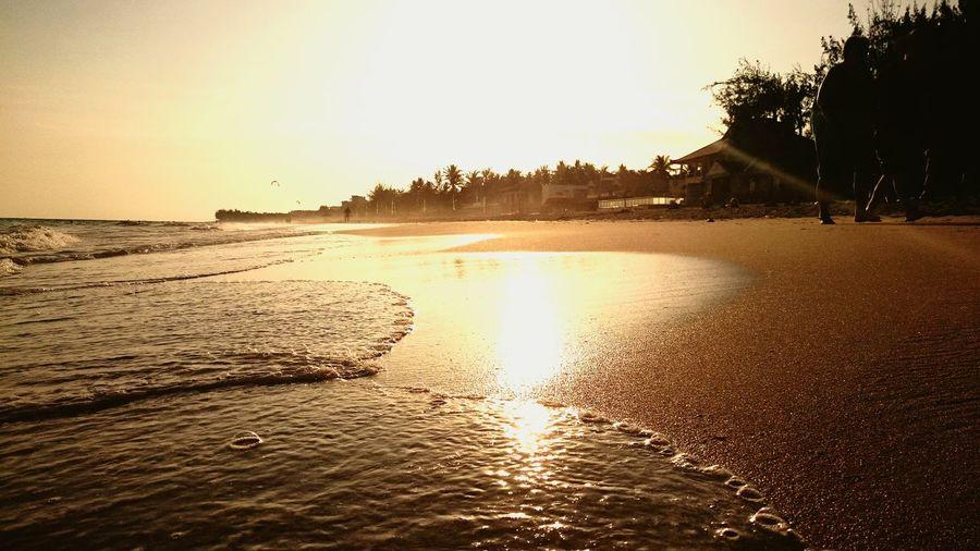 Sunset in Ham Tien beach Vietnam Hamtien Phanthiet Sunset Beach The Places I've Been Today