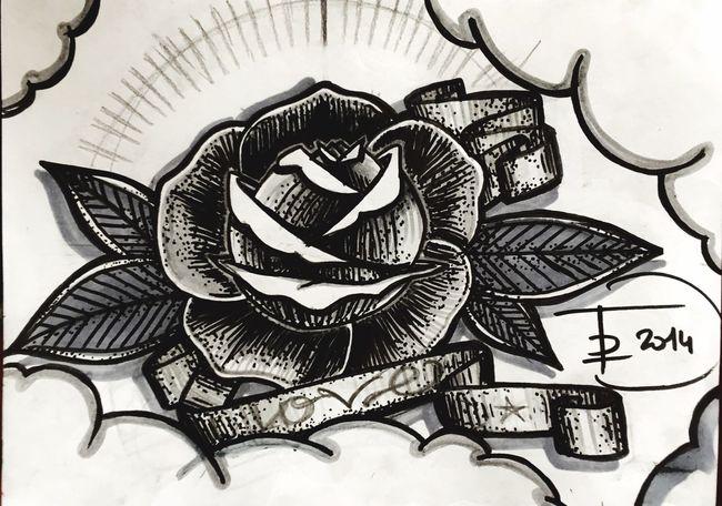 Tattoo ❤ Oldschool Tattooflash Drawing