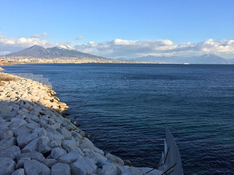 Vesuvio Napoli Neve Mare Panorama Màgico Mountain Water Sky Nature Sea Beauty In Nature Outdoors