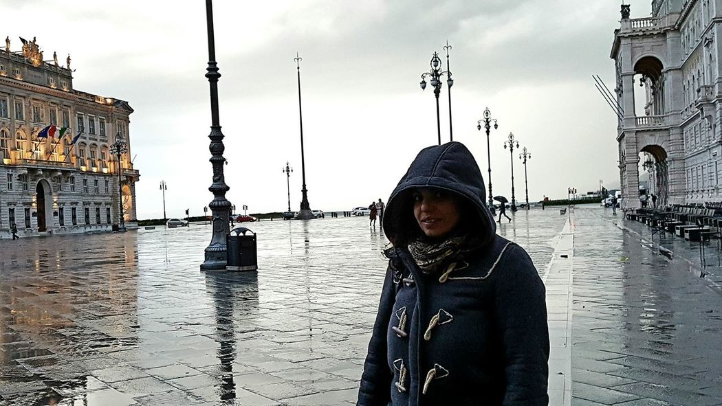 Love TriesteSocial Trieste Freezing Cold Rain Rainy Days Wintertime Piazza Unità White White Sky Sea Sea And Sky