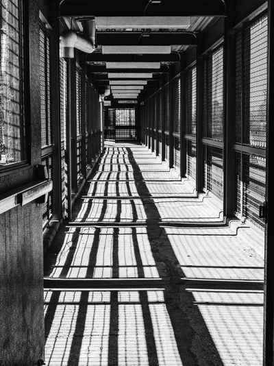 Architecture The Way Forward Built Structure Corridor Architectural Column Indoors  Day No People Shadow Sunlight The Architect - 2017 EyeEm Awards The Street Photographer - 2017 EyeEm Awards Black And White Friday