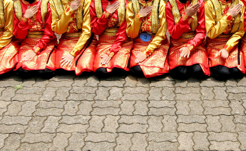 Tari Saman Indonesian Folk Dance Aceh Celebration Culture Dance Folk Dance Gayo Group Of People INDONESIA Low Section Pattern Red Saman Dance Tari Saman Traditional Travel