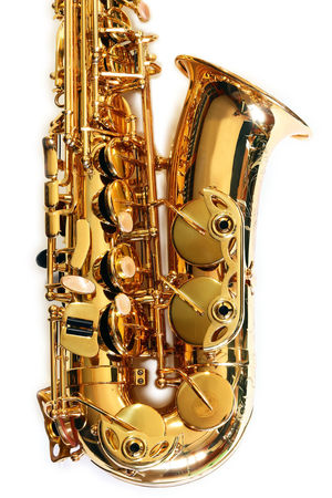 Music Instrument Alto Saxophone Saxophonist Wind Instrument Copy Space Gold Mock Up Music Music Saxophone Player Shiny Alto Alto Saxophone Close-up Copy Space In Sky Cut Out Gold Chain  Gold Colored Jazz Music Metal Mock Up Musical Instrument Saxophone Saxophone Player Saxophonelife Single Object Studio Shot White Background Indoors