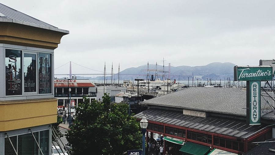 Architecture Building Exterior Built Structure No People Outdoors Day Travel Destinations City Mountain Cityscape Sky Tree Politics And Government San Francisco Golden Gate Bridge Horizon Over Water