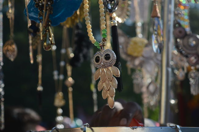 Necklace Fashion Shopping Time Shopping ♡ Owl Silver  At The Fair Market Close-up Focus Object Clarity Quality Jewellery