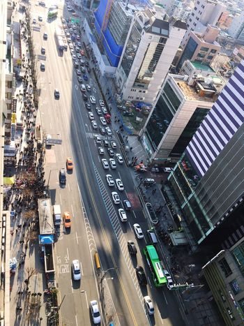 City Transportation Traffic Car Aerial View High Angle View Street City Life Mode Of Transport Land Vehicle Cityscape City Street Skyscraper Architecture Road Outdoors Building Exterior Rush Hour Traffic Jam Hongdae Hongdae Street Neighborhood Map