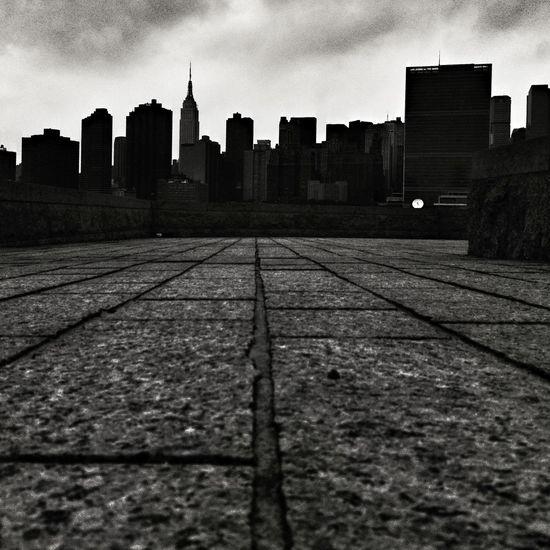 Landscape Black And White İ Love NY Skyline