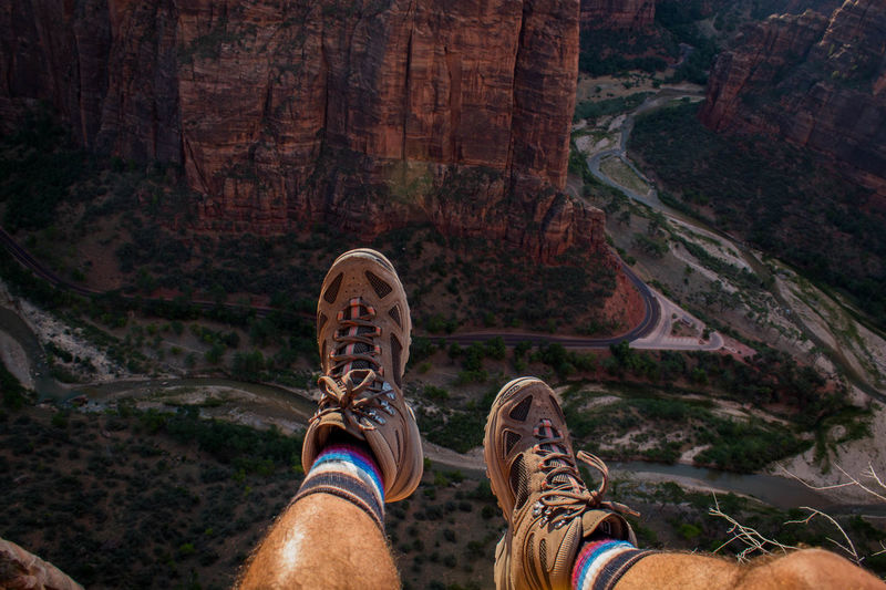 Camping Creativity Hiking Travel Photography Adventure Backpacker Photography Cliff Extreme Sports Human Body Part Human Leg Mountain Personal Perspective Scenics Shoe Wildnernessculture EyeEmNewHere EyeEmNewHere EyeEmNewHere Step It Up