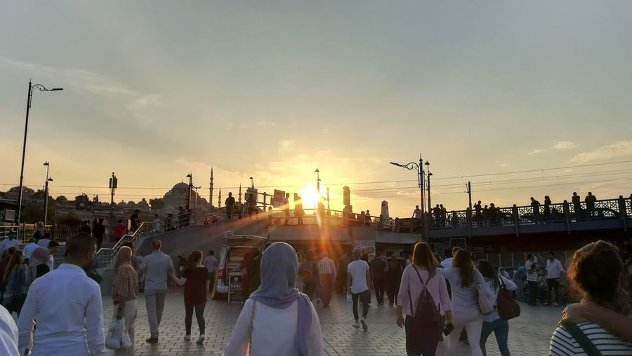 EyeEm Best Shots Human People Day City Shopping Happiness Lights Sun Sky Mosque City Sunset Crowd Silhouette Sky Visiting Place Of Worship Shining Spirituality Temple Religion Temple - Building