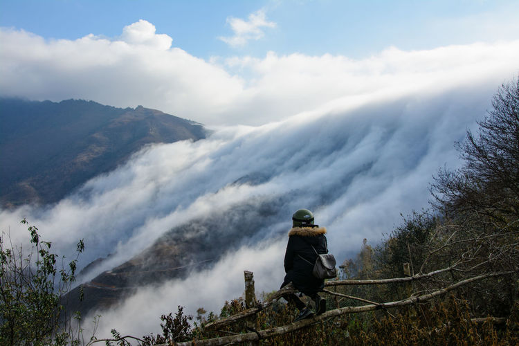 Cloudfall Cloud Cloudscape Lost In The Landscape Nature Tranquility Travel Travel Photography Traveling Backpacker Beauty In Nature Cloud - Sky Cloudfall Clouds Clouds & Sky Clouds And Sky Forest Mountain Mountain Range Nature Outdoors Rear View Scenics Sky Tranquil Scene