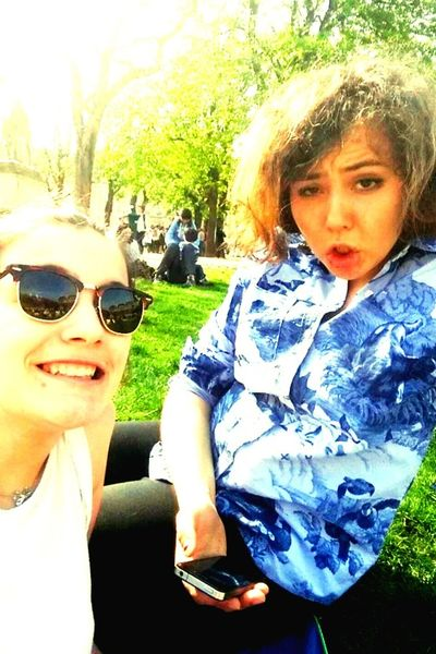Superday Sunny Day with my Very Beautiful Friend at Paris Place Des Vosges <3