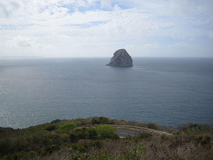 Horizon Over Water Island Le Diamant Majestic Nature Sea Shore Tranquility
